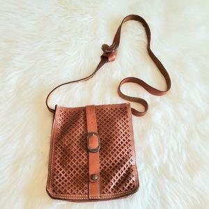 Patricia Nash Tan Venezia Lasercut Crossbody Bag